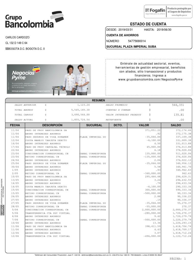 extractos bancolombia descarga
